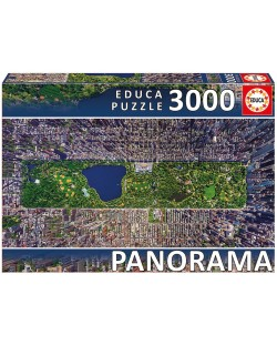 Puzzle panoramic Educa de 3000 piese - Central Park, New York