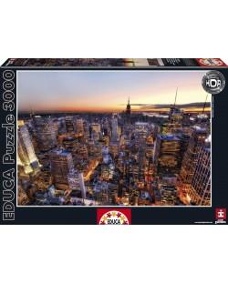 Puzzle Educa de 3000 piese - Rasarit in Manhattan, New York