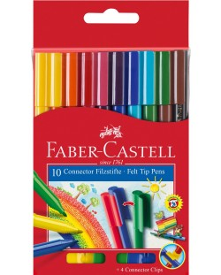 Carioci Faber-Castell Connector - 10 culori