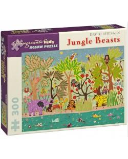 Puzzle Pomegranate de 300 piese - Bestii in jungla, David Sheskin