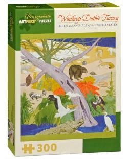 Puzzle Pomegranate de 300 piese - Pasari si animale, Winthrop Turney