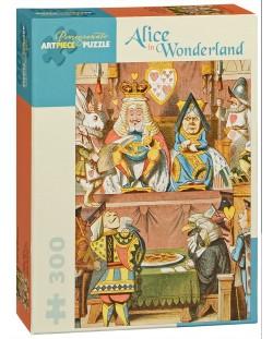 Puzzle Pomegranate de 300 piese - Alice in Tara Minunilor, Sir John Tenniel