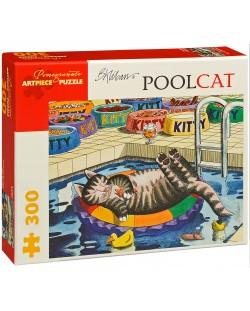 Puzzle Pomegranate de 300 piese - Pisica in piscina, B Kliban