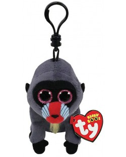 Breloc TY Toys Beanie Boo - Maimuta Wasabi, 8.5 cm