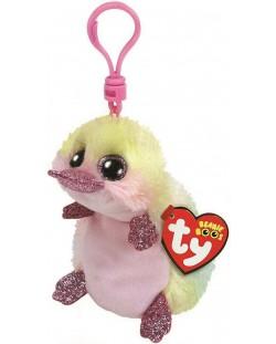 Breloc TY Toys Beanie Boo - Ornitorinc Petunia, 8.5 cm