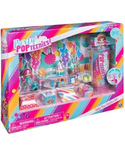 Set Spin Master Party Popteenies - Cu 3 papusi si accesorii