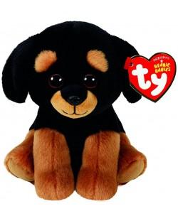Jucarie de plus TY Toys Beanie Babies - Rottweiler Trevour, 15 cm