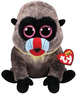 Jucarie de plus TY Toys Beanie Boos - Maimutica Wasabi, 15 cm