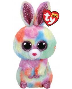 Jucarie de plus TY Toys Beanie Boos - Iepuras Bloomy, 15 cm