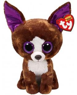 Jucarie de plus TY Toys Beanie Boos - Chihuahua Dexter, 15 cm