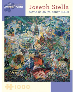Puzzle Pomegranate de 1000 piese - Lupta luminilor,  Joseph Stella