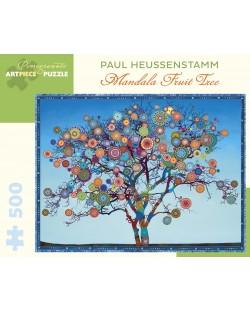 Puzzle Pomegranate de 500 piese - Fructe Mandala, Paul Heussenstamm