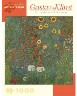 Puzzle Pomegranate de 1000 piese - Gradina cu floarea soarelui, Gustav Klimt