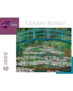 Puzzle Pomegranate de 1000 piese - Podul pietonal japonez, Claude Monet