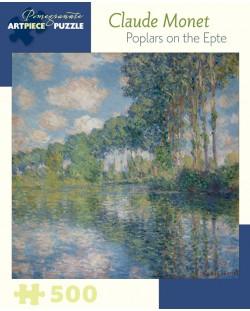 Puzzle Pomegranate de 500 piese - Plopii de langa Epte, Claude Monet