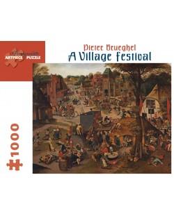 Puzzle Pomegranate de 1000 piese - Festival la tara, Pieter Brueghel