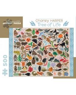 Puzzle Pomegranate de 500 piese - Pomul vietii, Charley Harper