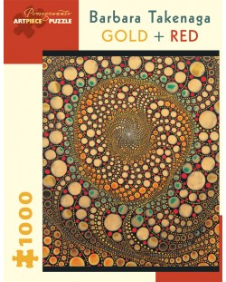 Puzzle Pomegranate de 1000 piese - Auriu si rosu, Barbara Takenaga
