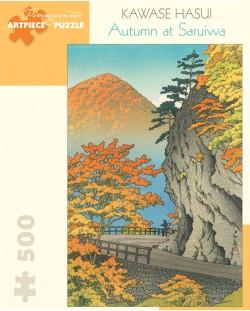 Puzzle Pomegranate de 500 piese - Toamna in Saruiwa, Kawase Hasui