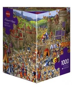 Puzzle Heye de 1000 piese - Luptele iepurasilor