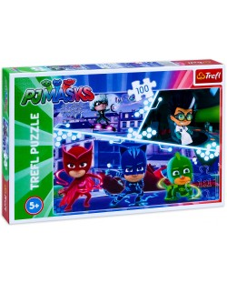Puzzle Trefl de 100 piese - PJ Masks in actiuni