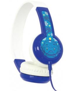 Casti BuddyPhones - DISCOVER, albastre/albe