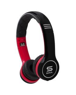Casti Soul SL100 - negre/rosii