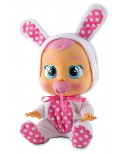 Papusa bebe plangacios IMC Toys Cry Babies, cu lacrimi - Coney, iepuras