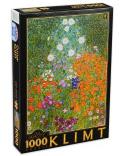 Puzzle D-Toys de 1000 piese - Gustav Klimt, Flower Garden