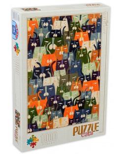 Puzzle D-Toys de 1000 piese - Andrea Kürti, Cats