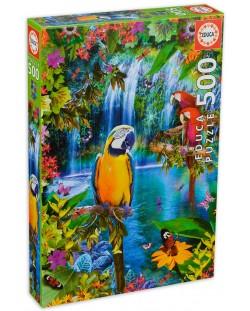 Puzzle Educa de 500 piese - Pasari tropicale