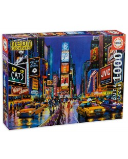 Puzzle neon Educa de 1000 piese - Times Square, New York