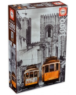 Puzzle Educa de 1000 mini piese - Zona Alfama, Lisabona, miniatura