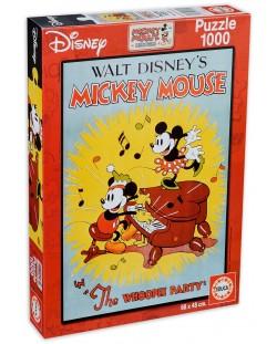 Puzzle Educa de 1000 piese - Sarbatoarea lui Mickey Mouse