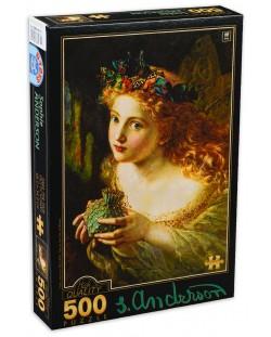 Puzzle D-Toys de 500 piese - Sophie Anderson, Take the Fair Face of Woman
