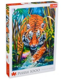 Puzzle Trefl de 1000 piese - Tigrul Pradator