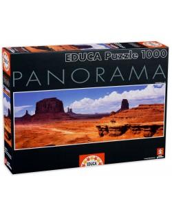 Puzzle panoramic Educa de 1000 piese - Valea monumentelor, SUA