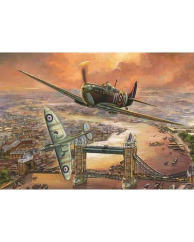 Puzzle Jumbo de 1000 piese - Avioane de vanatoare peste Londra, Jim Mitchell - 2