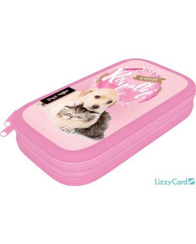 Penar scolar Lizzy Card - Little Friends,  cu 2 compartimente - 1