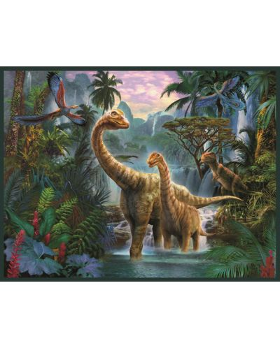Puzzle Jumbo  de 50 piese- Cu figurina dinozaur 3D inclusa - 2
