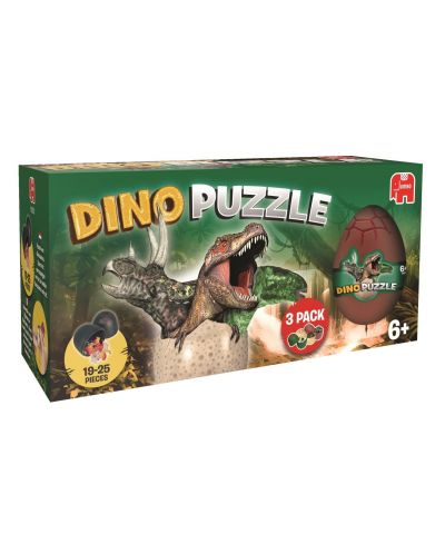 Puzzle 3D Jumbo - 3 Oua de dinozaur - 1