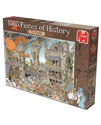 Puzzle Jumbo de 1000 piese - Bucati de istorie - Castelul Derks - 1