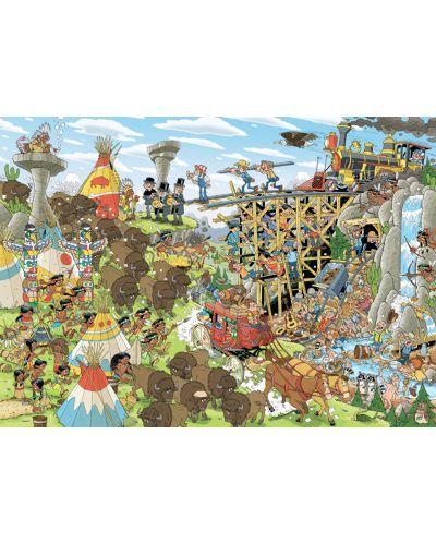 Puzzle Jumbo de 1000 piese - Bucati de istoria, Vestul Salbatic - 2