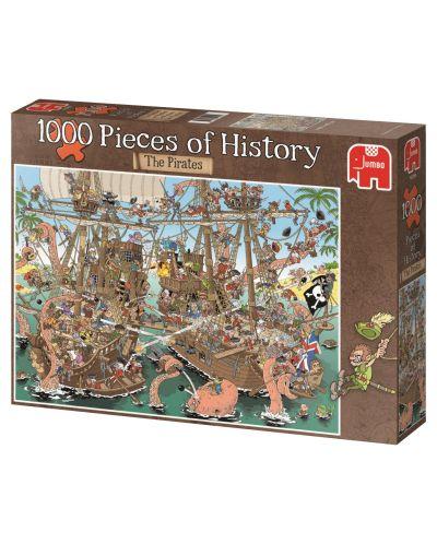 Puzzle Jumbo de 1000 piese - Bucati de istorie - Pirati, Derks - 1
