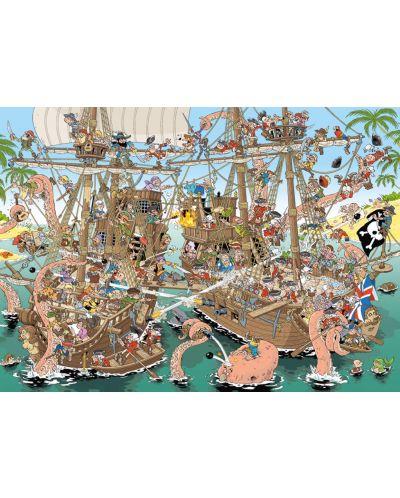Puzzle Jumbo de 1000 piese - Bucati de istorie - Pirati, Derks - 2