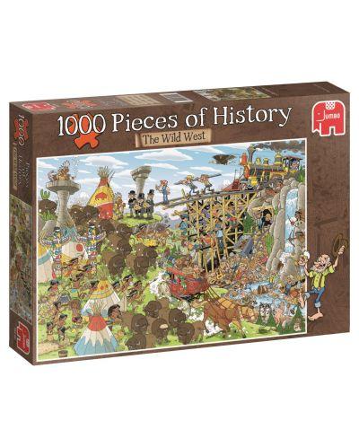 Puzzle Jumbo de 1000 piese - Bucati de istoria, Vestul Salbatic - 1