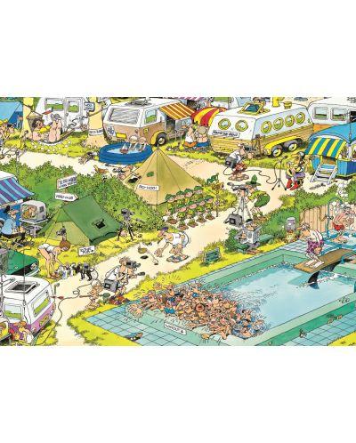 Puzzle Jumbo de 300 piese - Haos in camping , Jan Van Haasteren - 2