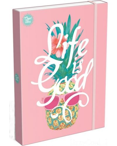 Cutie cu elastic  Lizzy Card A4 - Life is Good, Good Vibes - 1