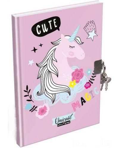 Jurnal secret cu lacat Lizzy Card - Uni Cool Magic, format А5 - 1
