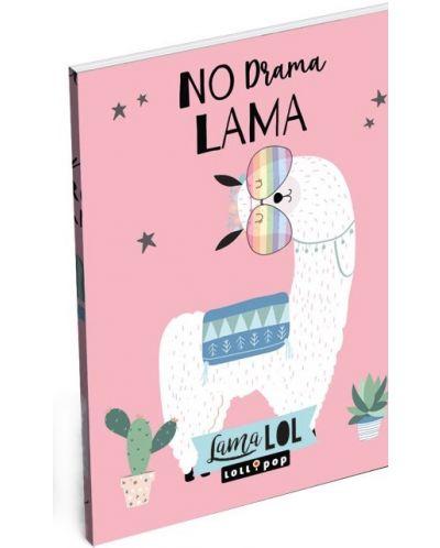 Carnetel Lizzy Card- Lama LOL, format A7 - 1